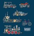 transport vehicles mechanics and mechanisms vector image