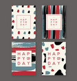 trendy birthday cards vector image