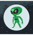 Digital green alien scary creature vector image