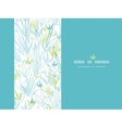 Blue bamboo branches vertical decor background vector image vector image