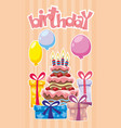festive birthday template vector image