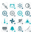 stylized car dashboard icons vector image vector image