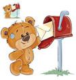 a brown teddy bear takes vector image