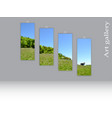 triptych template three clean vertical canvases vector image vector image