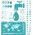 Water Conservation Infographic Template vector image vector image