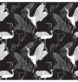 Cranes birds seamless pattern vector image vector image
