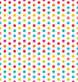 Seamless Polka Dot Background Colorful Pattern for vector image