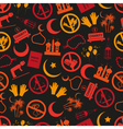 ramadan islam holiday icons seamless color pattern vector image