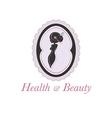 Spa beauty salon logo in a frame vector image