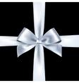 Shiny white satin ribbon vector image