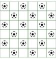 Football Ball Dark Green Grid White Background vector image