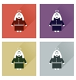 Concept of flat icons with long shadow Mother vector image