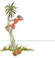 Robinson Crusoe vector image vector image