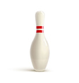 bowling realistic theme Editable on white vector image