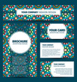 corporate identity with moroccan mosaic pattern vector image