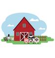 farm Cow sheep pig horse sheep goat vector image