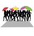 girl sexy with umbrella vector image