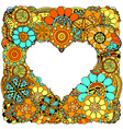 Hand Drawn Floral Heart Design vector image
