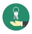 Hand with keys icon vector image