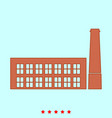 industrial building factory it is icon vector image