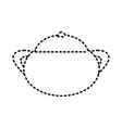sugar bowl sticker vector image