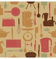 seamless pattern of kitchen tools for cookin vector image vector image