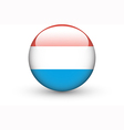 Round icon with national flag of Luxembourg vector image
