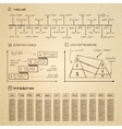 Doodle infographics elements for business vector image