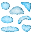 set of triangular clouds vector image vector image