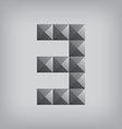 3 number three alphabet geometric icon and sign vector image