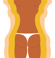 Slim figure woman Weight loss of a girl vector image