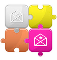 mail left arrow vector image