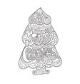 Christmas tree art style with Christmas Hand drawn vector image vector image