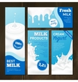 Milk Products Banners Set vector image