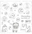 Shopping hand drawn decorative icons set vector image