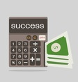business concept with calculator icon success vector image