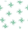 Floral green seamless pattern vector image
