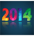New Year card with origami paper numeral vector image