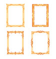 set of decorative frames and borders set vector image