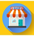 Store front icon Flat design small shopping vector image