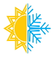 summer winter air conditioning icon5 resize vector image
