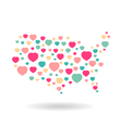 USA pattern hearts map vector image