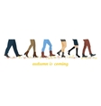 Legs of people group vector image