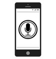 Mobile phone smartphone with voice control search vector image