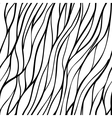 Seamless hand-drawn pattern with abstract waves vector image