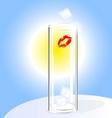 empty glass vector image vector image