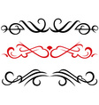set calligraphic design elements vector image vector image
