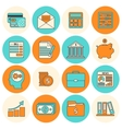 Accounting icons set flat line vector image