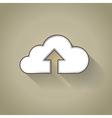 Cloud uploading vector image