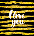 i love you card design vector image